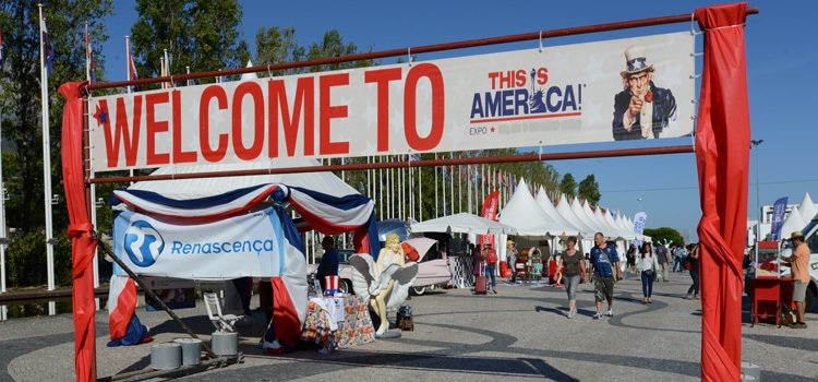 "The entrance to the 3rd edition of ""This is America"" in Lisbon"
