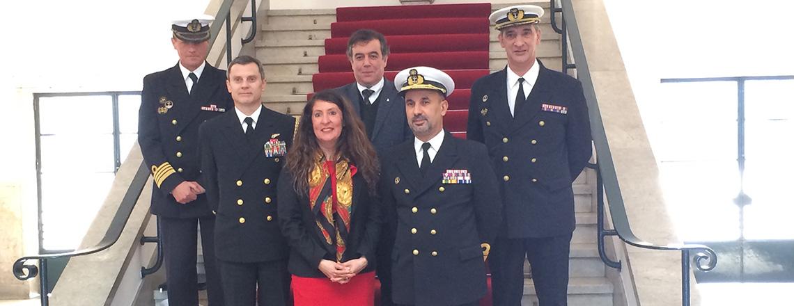 Chargé d'Affaires Visit to Naval Academy