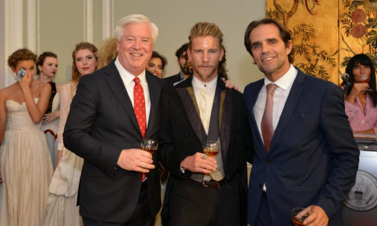 From left, Amb. Glass, Jeff Garner, Miguel Albuquerque