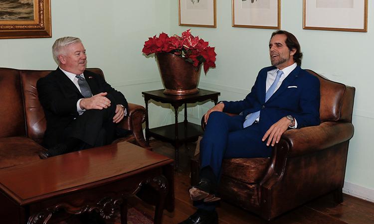 Ambassador Glass with Madeira Reg. President Miguel Albuquerque