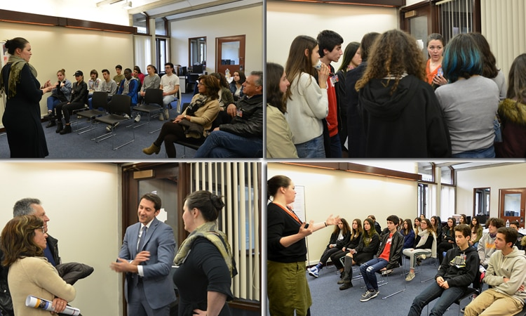 Students from Figueira da Foz and Amadora visited the Embassy.