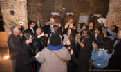 The choir participated in an impromptu sing-off with Cante Alentejano singer, Pedro Mestre