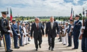 Portuguese Defense Minister Azered Lopes and U.S. SecDef Mattis