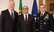 From left, Amb. Glass, Minister Azeredo Lopes, and General Scaparrotti